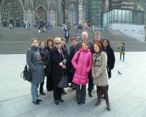 Opintovierailun osallistujia eri maista