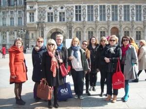 Pariisin Academia-vierailun osallistujajoukko