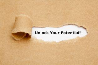 """Kuva, jossa lukee """"Unlock your potential"""""""