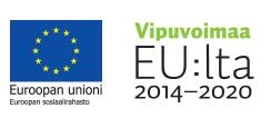 Euroopan sosiaalirahaston ja Vipuvoimaa EU:lta 2014-2020 logot